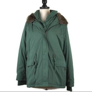 NWOT Forever 21 Green Utility Parka with Faux Fur